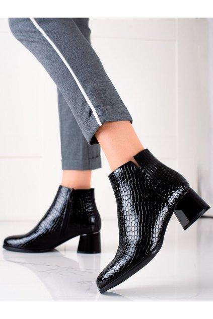 Čierne dámske topánky W. potocki kod 21-12023B