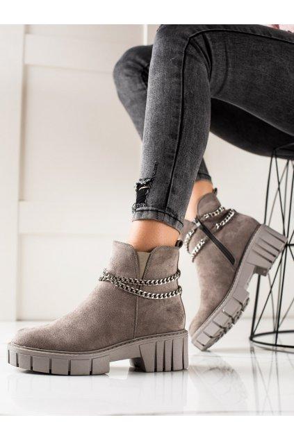Sivé dámske topánky Goodin kod HF251A-LT.G
