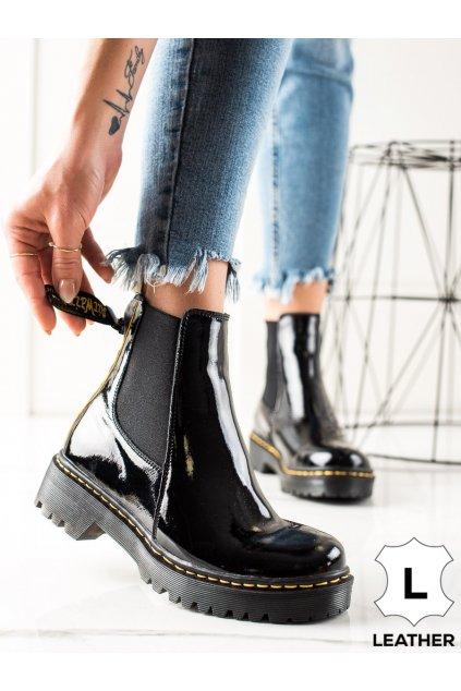 Čierne dámske topánky Filippo kod GL500/21B
