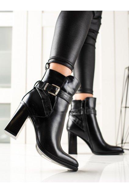Čierne dámske topánky Bestelle kod HB-56B