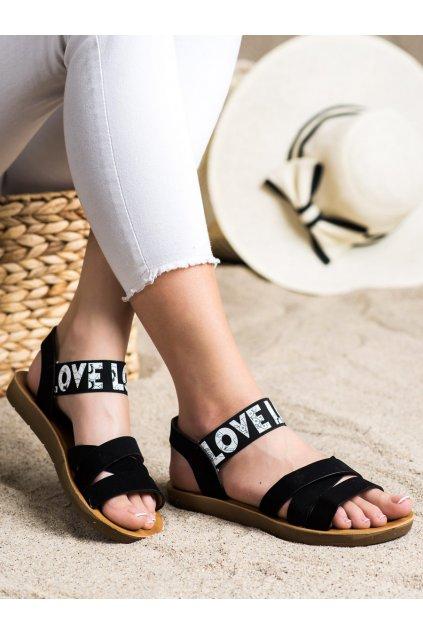 Čierne dámske sandále Trendi kod E1503B