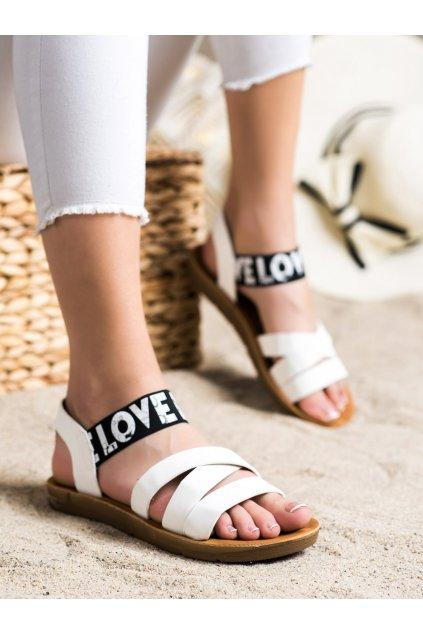 Biele dámske sandále Trendi kod E1503W