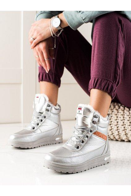 Sivé dámske topánky Trendi kod