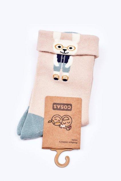 Detské ponožky farba hnedá kód LC10-1 BEIGE