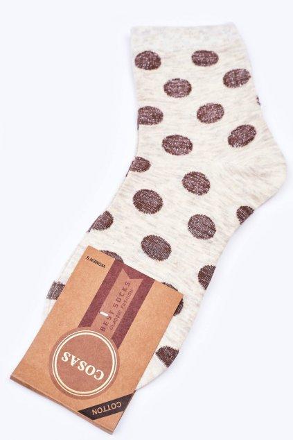 Dámske ponožky farba hnedá kód DMP316 ECRU