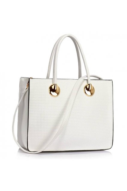 Business kabelka do ruky Annita biela LS00394A