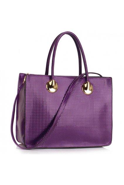 Business kabelka do ruky Annita fialová LS00394A