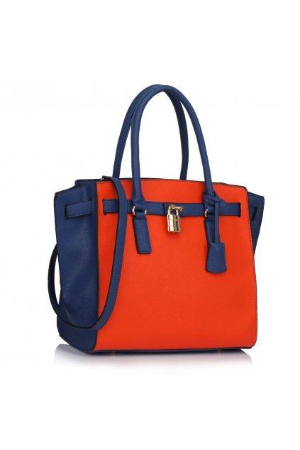 Kabelka do ruky Augie modrá / oranžová LS00396
