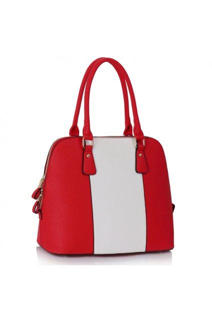 Kabelka do ruky Cindy červená / biela LS00242