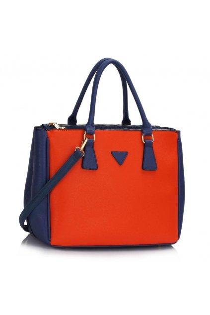 Kabelka do ruky Nancy modrá / oranžová LS00260