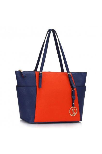 Kabelka na rameno Amelia modrá / oranžová LS00350
