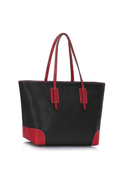 Kabelka na rameno April čierno / červená LS0088A