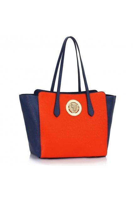Kabelka na rameno Carlie modrá / oranžová LS00403