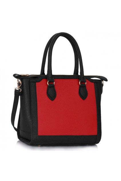 Kabelka na rameno Cassie čierna / červená LS00149A