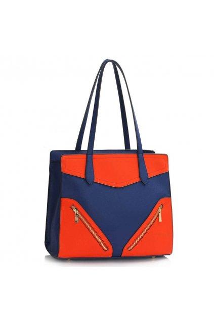 Modro - oranžová kabelka na rameno Camille