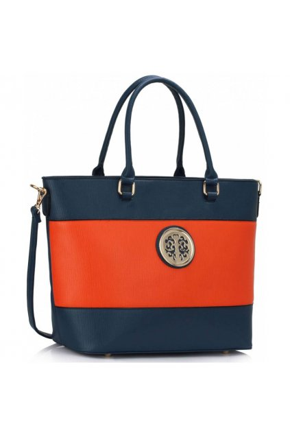 Shopper kabelka do ruky Arline modrá / oranžová LS00406