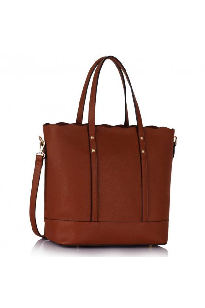 Shopper kabelka do ruky Aurora hnedá LS00361