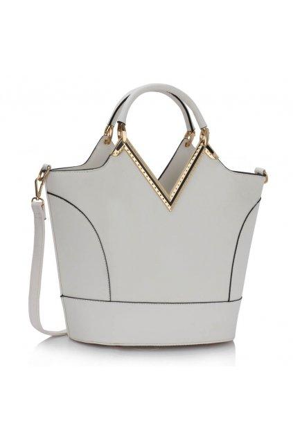 Shopper kabelka do ruky Bertie A biela LS00379A