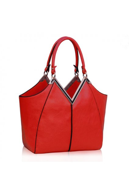 Shopper kabelka do ruky Bessie červená LS00156