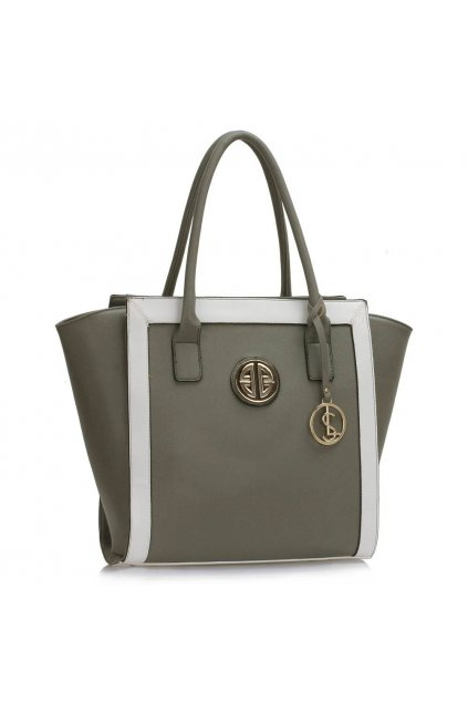 Shopper kabelka do ruky Carin sivá / biela