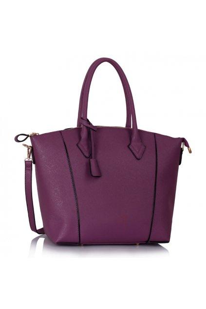 Shopper kabelka do ruky Clem fialová LS00332