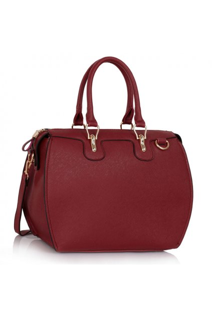 Shopper kabelka do ruky Clementine bordová LS0099A