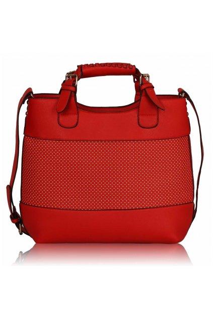 Shopper kabelka do ruky Delia C červená LS00268A