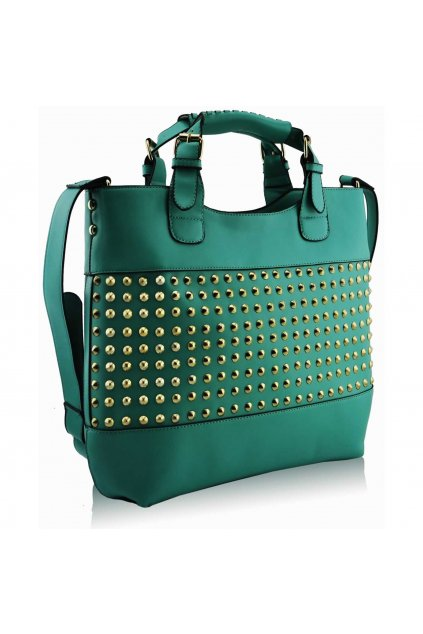 Shopper kabelka do ruky Delia E smaragdová LS00106A