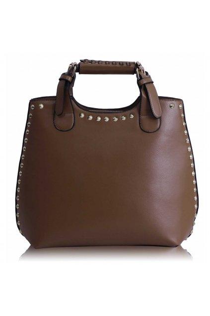 Shopper kabelka do ruky Delia G zhnedá LS00105