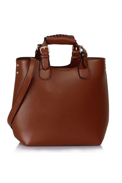 Shopper kabelka do ruky Delia hnedá LS00267