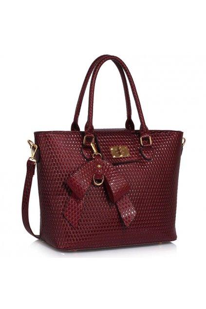 Shopper kabelka do ruky Ginny bordová LS00485