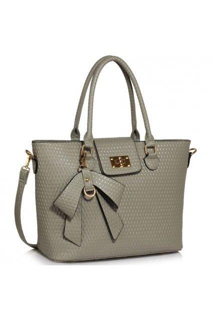Shopper kabelka do ruky Ginny sivá LS00485