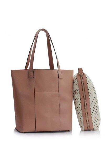 Shopper kabelka do ruky Hanna telová LS00467