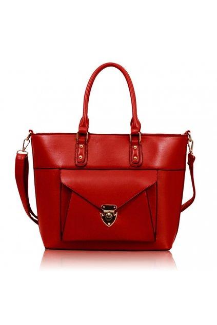 Shopper kabelka do ruky Henrietta červená LS00181