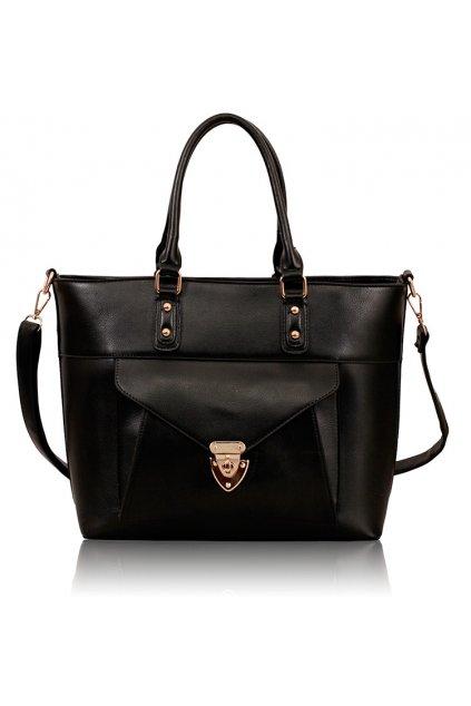 Shopper kabelka do ruky Henrietta čierna LS00181