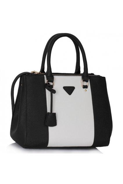 Shopper kabelka do ruky Chattie čierna / biela LS00118