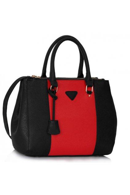 Shopper kabelka do ruky Chattie čierna / červená LS00118