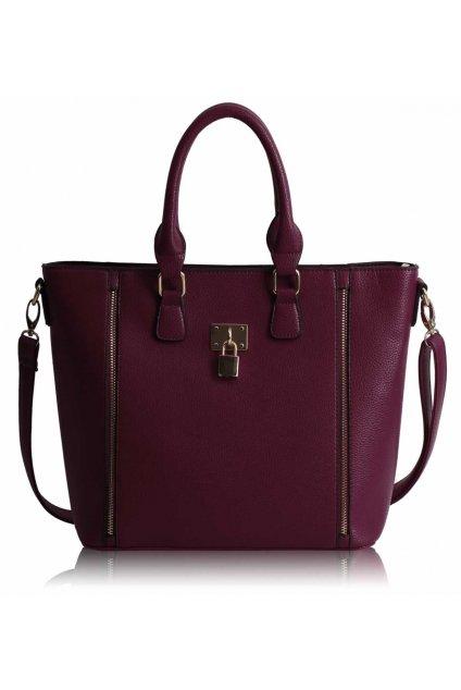 Shopper kabelka do ruky Christiana bordová LS0031