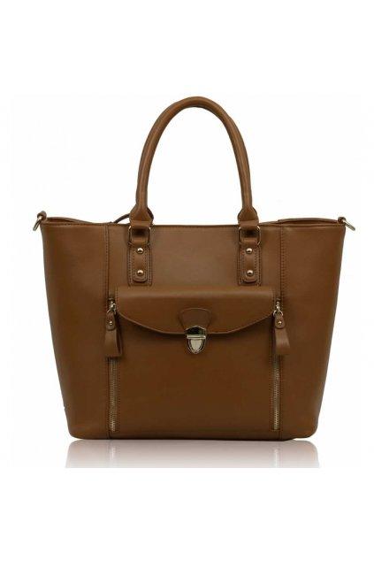 Shopper kabelka do ruky Janice hnedá LS00170A