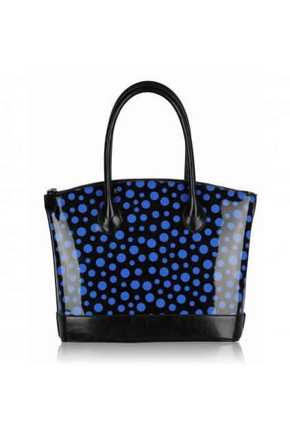 Shopper kabelka do ruky Laurie čierna / modrá LS00282