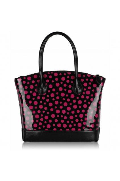 Shopper kabelka do ruky Laurie čierna / ružová LS00282