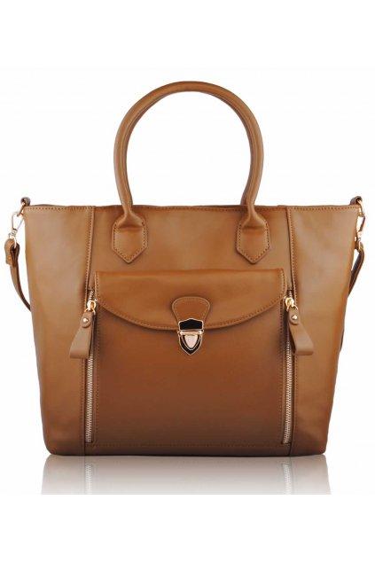Shopper kabelka do ruky Leigh hnedá LS00170