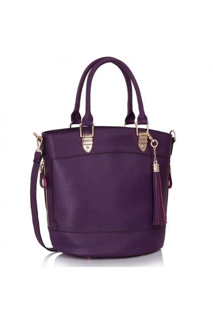 Shopper kabelka do ruky Lexy fialová LS00321