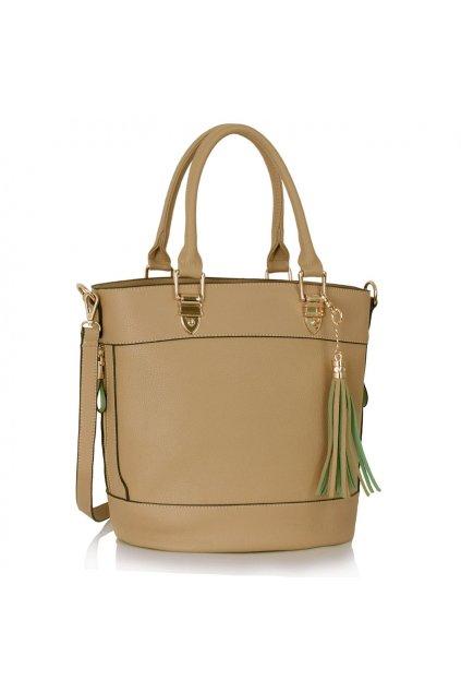 Shopper kabelka do ruky Lexy telová LS00321