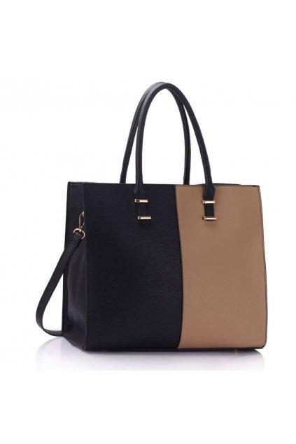 Shopper kabelka do ruky Lois čierna / telová LS00319B