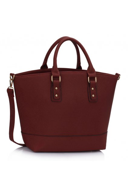Shopper kabelka do ruky Loran bordová LS0085