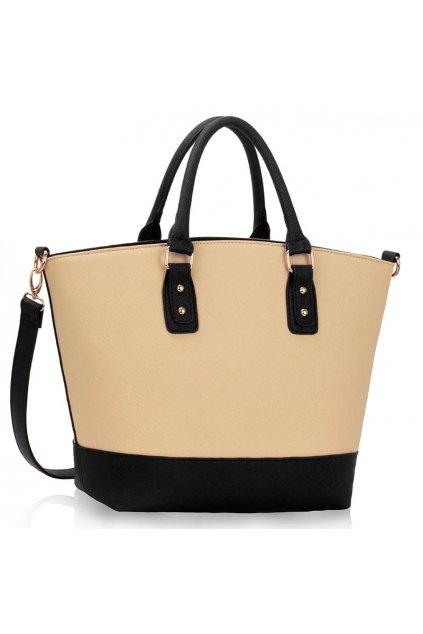 Shopper kabelka do ruky Loran čierna / telová LS0085