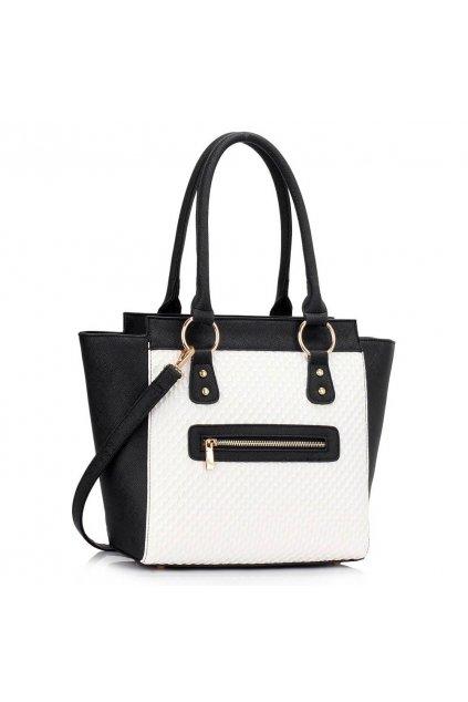 Shopper kabelka do ruky Milly čierna / biela
