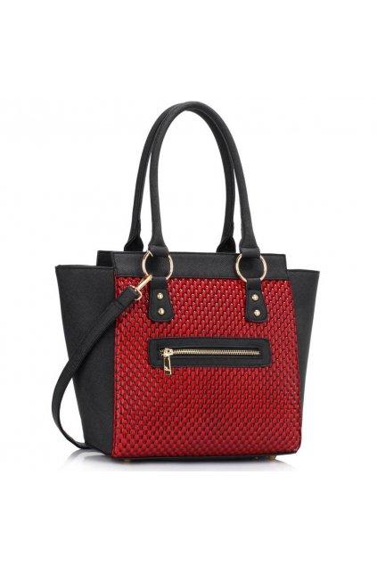 Shopper kabelka do ruky Milly čierna / červená