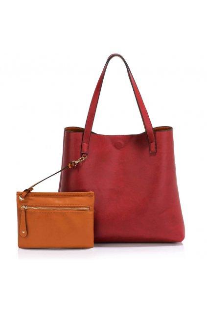 Shopper kabelka do ruky Netta hnedá/bordová LS00493